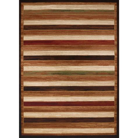 10 X 10 Deck Rug by United Weavers Studio Painted Deck Brown 7 Ft 10 In X 10