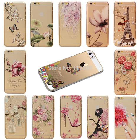 Buterfly Hardshell For Iphone 6s 웃 유clear cases for iphone ᐂ 6 6 6s flower butterfly scenery tower 웃 유 pattern pattern phone