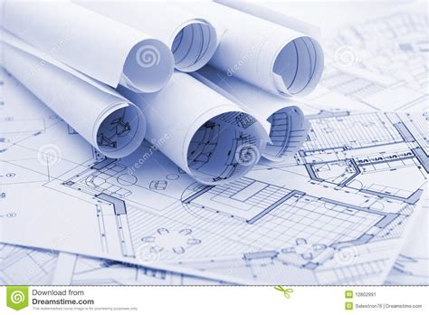 House Building Plans And Prices Architecture Plans Stock Image Image 12802991