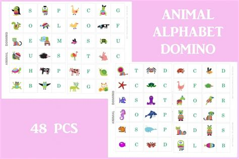 printable alphabet dominoes animals alphabet dominoes printables creative kitchen