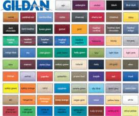 tshirt colors gildan t shirt color chart 2014