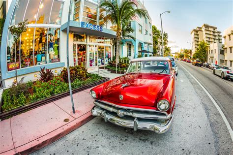 deco car park vintage ford car parks in the deco district in miami