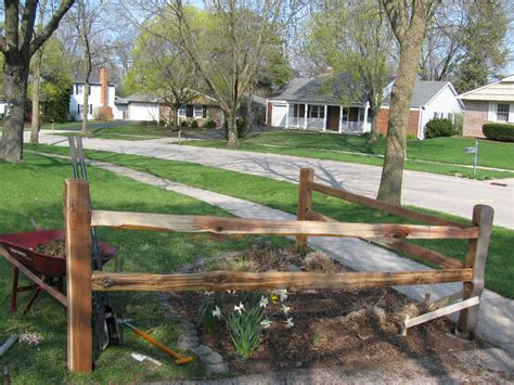 split rail corner fence fence landscaping