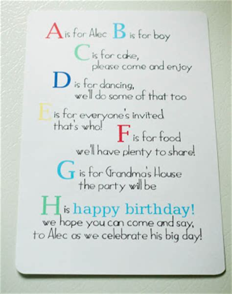 boy birthday invitation letter a is for alec abc 1st birthday my insanity