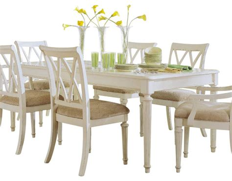 Traditional Kitchen Tables American Drew Camden Light Leg Table In White Painted Traditional Dining Tables By Beyond