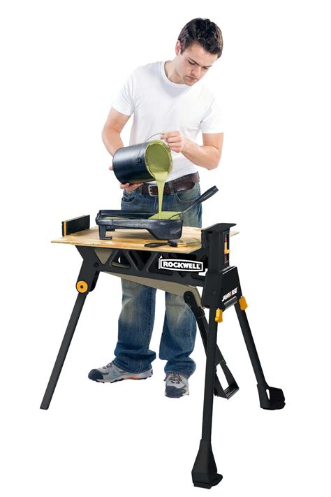 rockwell portable saw rockwell jawhorse rk9003 saw horse carpenter material bike