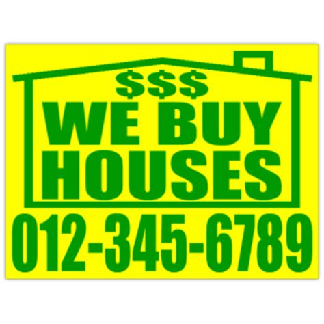 We Buy Houses Signs by Bandit Signs We Buy Houses Investor Sign