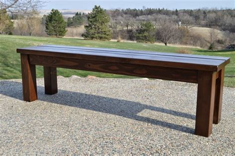Bench Seating For Patio Table Kruse S Workshop Simple Patio Table With Bench Seating