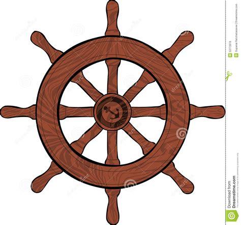 boat driving wheel boat wheel stock vector image 53772619