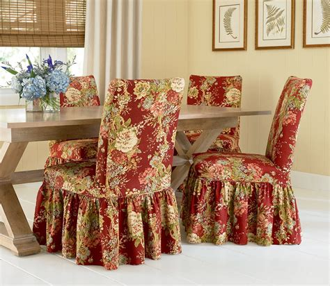 dining room chair covers pattern sure fit slipcovers super easy way to pretty up those