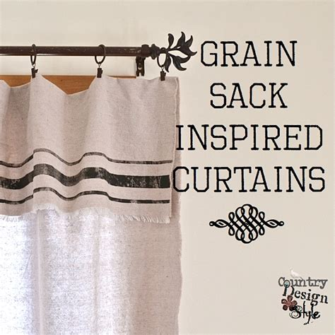 grain sack curtains grain sack inspired curtains country design style