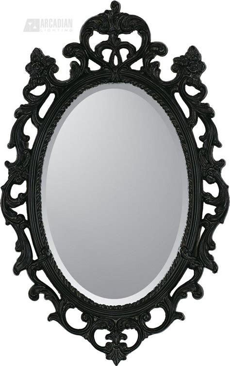 malanta knowles  black ornate traditional oval mirror