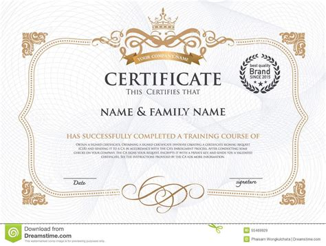 certificate design ideas unique certificate design template crest exle resume
