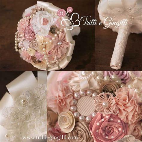 fiori rosa antico bouquet sposa shabby chic color rosa antico e avorio con