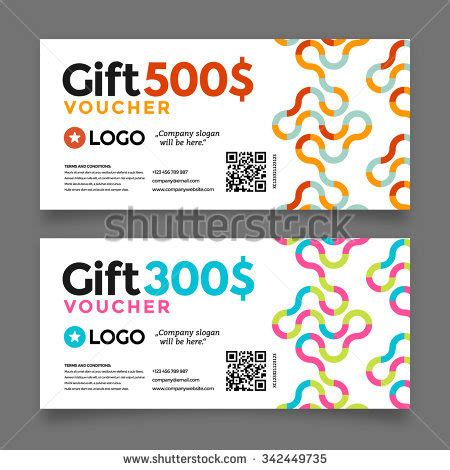 graphic design gift card template portfolio gift voucher template set two cards stock vector 339493823