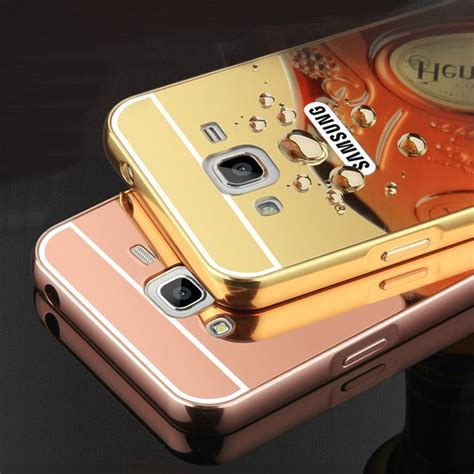 Samsung Galaxy J1 2016 J120 Metal Bumper Mirror Slide Back Cover j3 metal back cover chinaprices net