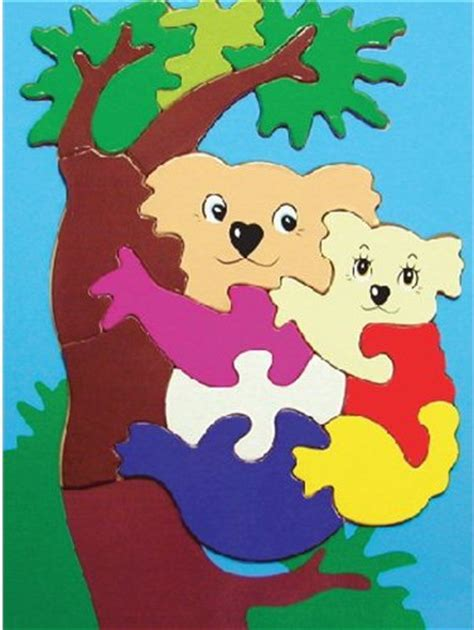 Puzzle Jigsaw Transportasi puzzle gambar koala mainan kayu