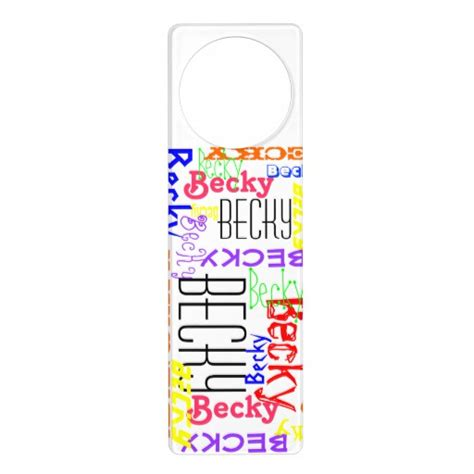 Custom Door Knob Hangers personalized custom name collage colorful door knob hanger
