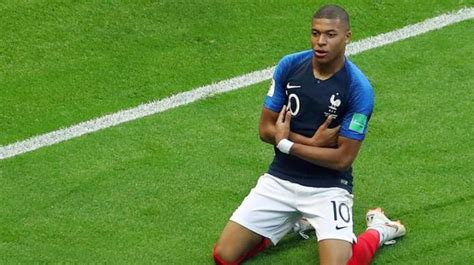 kylian mbappe km world cup 2018 mbappe matches pele in epic france vs
