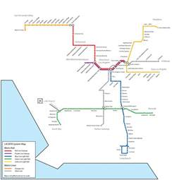 La Metro System Map subwaymaps los angeles 2020 since my last map
