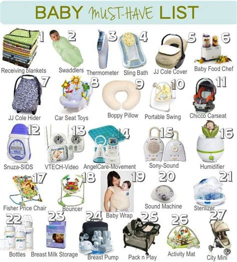 the must guide a listed a list of baby must haves great guide on what to get