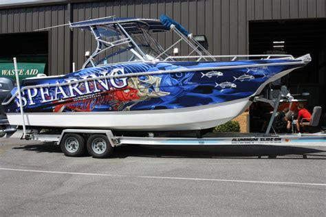 vinyl wrap on boat vinyl boat wrap ta fl blackjack media group