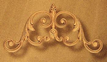 Kontainer Cestine 2270 Green Leaf leaf scroll small drapery crown