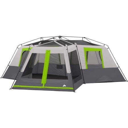 ozark trail 12 person 3 room tent ozark trail 12 person 3 room instant cabin tent with screen room green cing companion