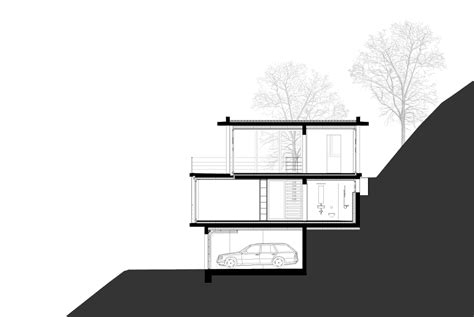 building a house on a slope house on a slope gian salis architects architecture lab