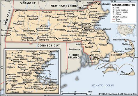 massachusetts political map massachusetts geography history britannica