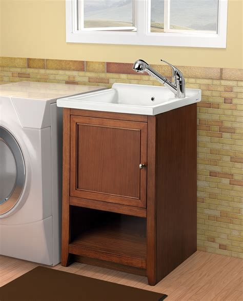 Home Decor Utility Sink With Cabinet Arts And Crafts Laundry Room Sink And Cabinet