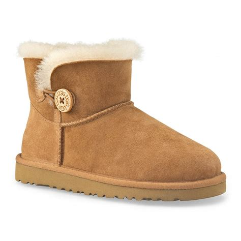 baby ugg boots ugg mini baby button warm lined boots charles clinkard