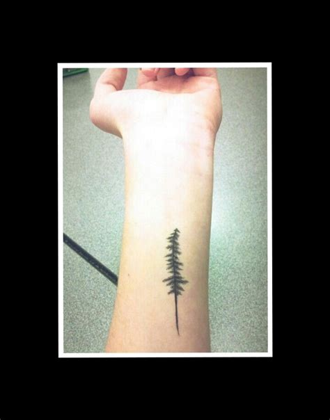 pine tree wrist tattoo pine tree forearm tattoos
