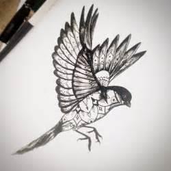 tattoo mandala bird blackwork sketch from ifigeneia sake tattoo crew