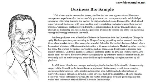 company biography template business bio sle bio exles business