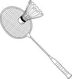 Racket Outline by Badminton Racket Colouring Pages