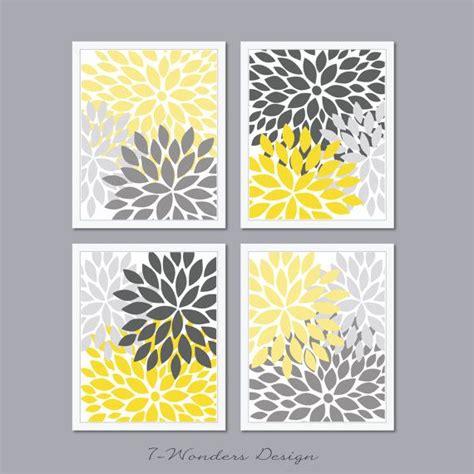 gray wall decor custom 30 yellow and gray wall art design inspiration of