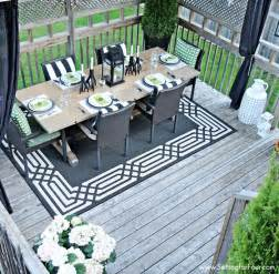 Decorating Ideas For Deck Summer Deck Decor Setting For Four