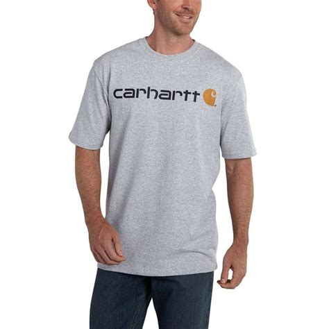 Carhartt T Shirts by Carhartt Signature Sleeve Logo T Shirt K195