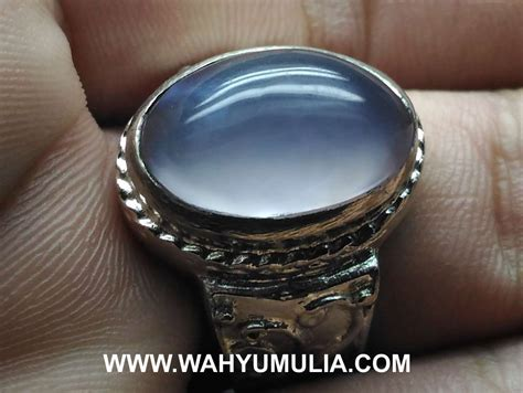 Batu Anggur Hijau Muda Baturaja batu cincin blue chalcedony baturaja asli kode 589