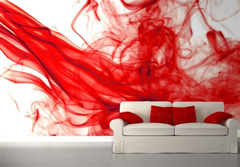 abstract wallpaper mural red and white bedroom wall murals homewallmurals co uk