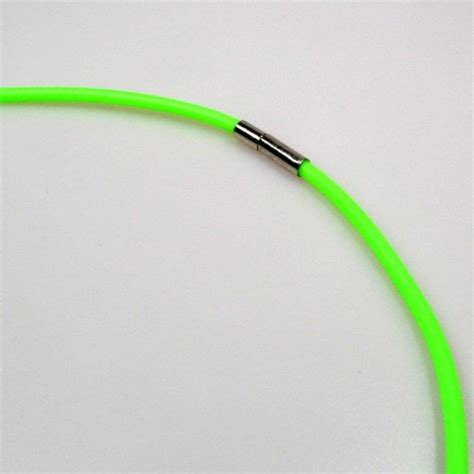 rubber sting rubber string with snap closure 2 pieces green