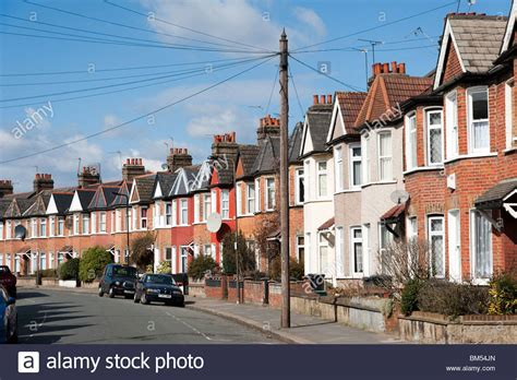 buy house in london uk row of terraced houses in residential street london england uk stock photo royalty