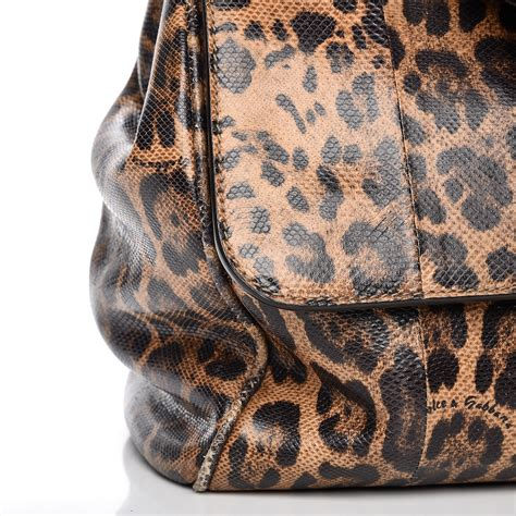 Dolce And Gabbana Calfskin Shopper With Oversized Buckle by Dolce Gabbana Embossed Calfskin Leopard Print Large Miss