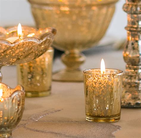 Look That Candles On by Gold Mercury Glass Votive Candle Holder David Tutera 2