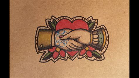 old school hand tattoo designs how to draw school shaking by thebrokenpuppet
