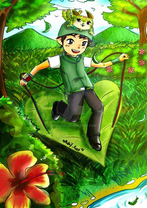Wallpaper Boboiboy Daun | boboiboy daun for monsta contest xd by mobil94 on deviantart