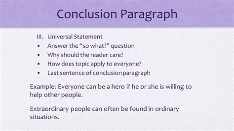 conclusion paragraph restate thesis ppt download