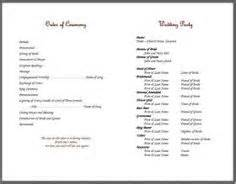 wedding bulletin templates bulletins on knots cords and strands