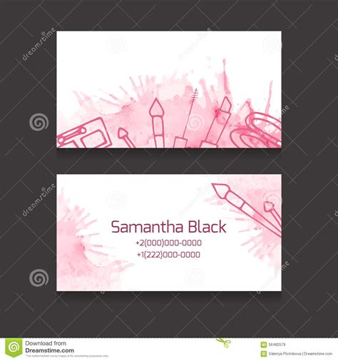 cosmetics business cards templates makeup artist business card stock vector illustration of